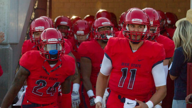 Dixie State football takes on South Dakota School of Mines Saturday, Sept. 9, 2016.