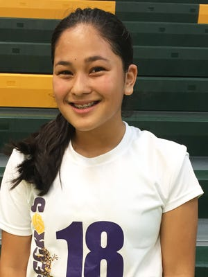 The Geckos' Jojo Cruz served seven straight to power her team in the third and finals set as GW dropped JFK in the IIAAG Girls Volleyball League to remain unbeaten.