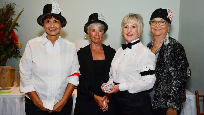 Margie Rivera, Patt Stewart, Theresa Savage and Katy Parenteau at the Gulf Coast Friends Casino Night.