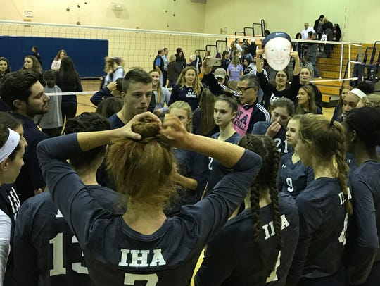 Immaculate Heart huddles up after defeating NV/Old