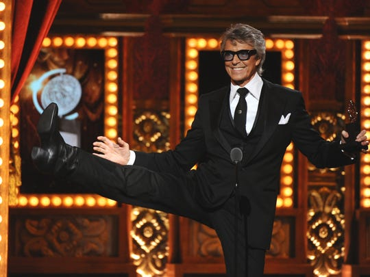 Tommy Tune receives his 10th Tony Award, for lifetime achievement, in 2015, at Radio City Music Hall.