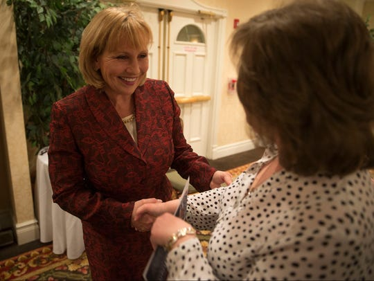 Lt. Governor Kim Guadagno meets with supporters as