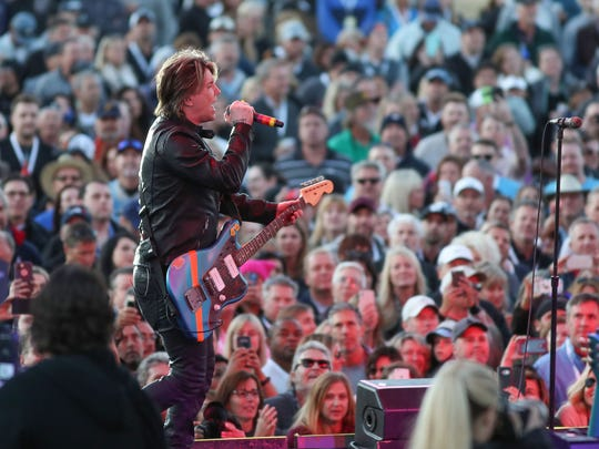 The Goo Goo Dolls perform at PGA West during the CareerBuilder Challenge in La Quinta, January 20, 2018.