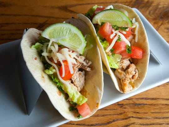 Somewhere Restaurant's chicken tacos are made with