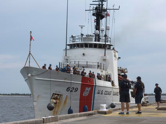 The United States Coast Guard Cutter, Decisive arrives at its new homeport at Pensacola Naval Air Station on Tuesday, June 5, 2018. The medium endurance cutter will moor at the Allegheny Pier.