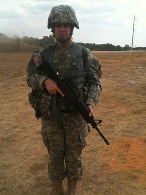 Amanda Goodlin Negrete in her combat uniform