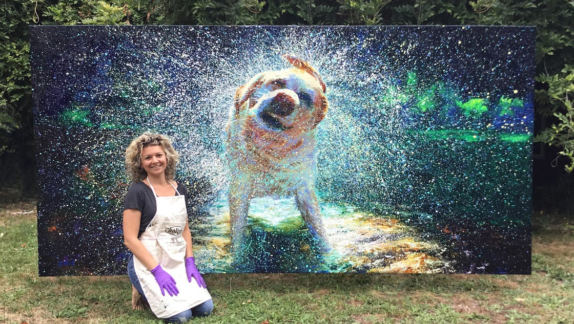 Grown Up Finger Painting Artist Creates Stunning Images