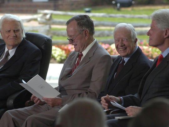 Graham with 3 presidents.jpg