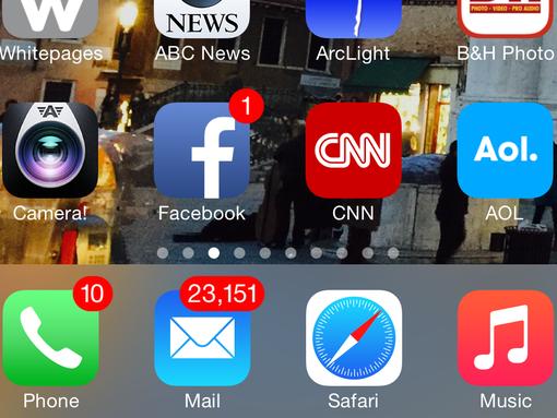 iPhone home screen (Photo: Jefferson Graham)