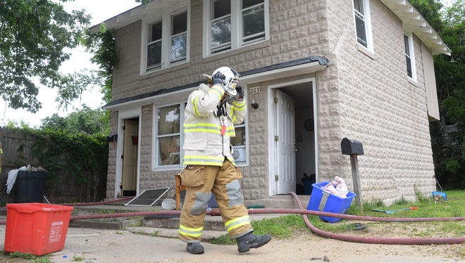 Millville Fire Department responded to a house fire on Fourth Street in Millville, Monday, Jul. 6, 2015.