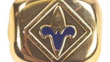 The Boy Scouts of America's blue Webelos slide is one of four neckerchief slides that have been recalled because of levels of lead that exceed the federal lead content ban.