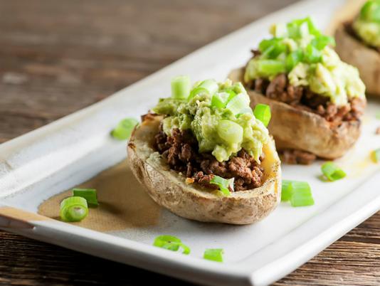 Potato-skin tacos