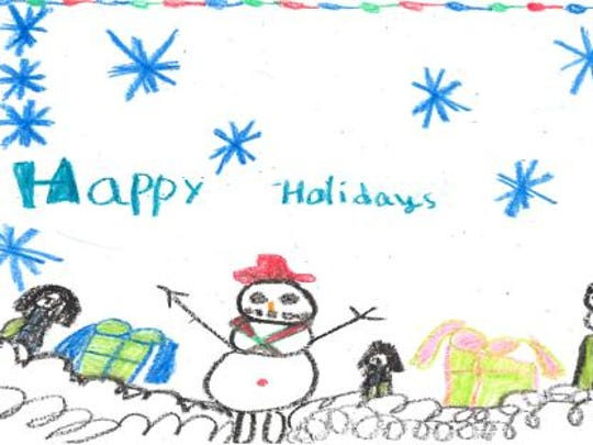 The winning Christmas card designed by Amber Porter.