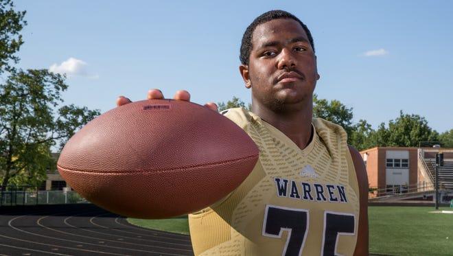 Justin Britt, offensive lineman, Warren Central High School, part of the IndyStar Super Team for football.