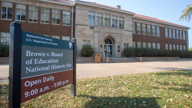 "Topeka's Brown v. Board of Education National Historic Site at 1515 S.E. Monroe St. was called a ""racist building"" that should be torn down in a Facebook message posted Thursday on the locally maintained page of the Blue Shield Facebook group."