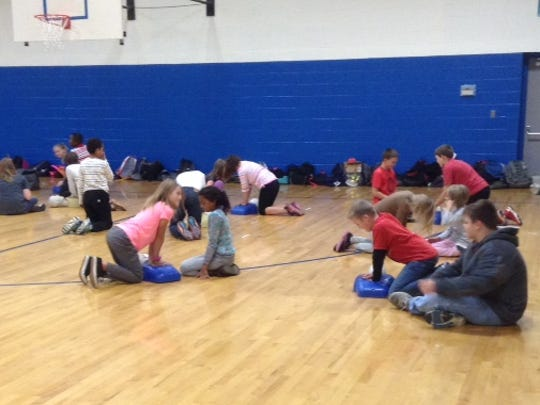 Rutherford County Schools students and staff regularly train in CPR techniques. Their preparedness recently saved an adult's life at an after school activity. Young students learn to recognize when an emergency needs and adult's help and some hands-only CPR techniques.