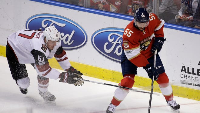 The Coyotes acquired Jason Demers from the Panthers on Sunday.