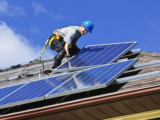 INSTALL SOLAR PANELS: Solar panels, often installed on roofs, can reduce cooling costs by use the sun's energy to power a home.