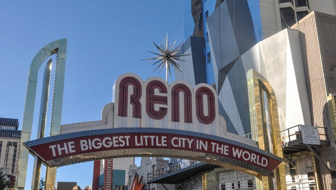 The iconic downtown Reno Arch.