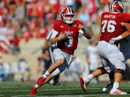 Peyton Ramsey became the first IU freshman quarterback to pass for 300 yards in a game since 2005.