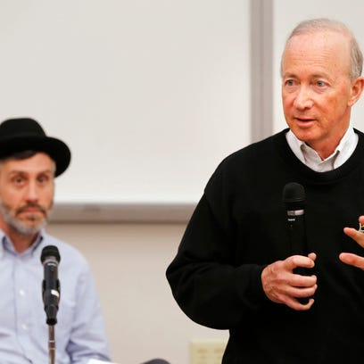 President Mitch Daniels answers question's concerning