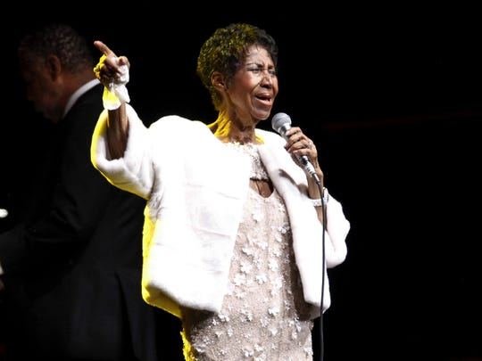 In this Nov. 7, 2017 file photo, Aretha Franklin attends the Elton John AIDS Foundation's 25th Anniversary Gala in New York.