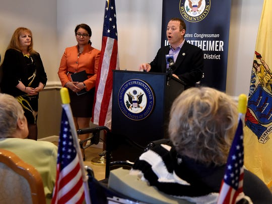 Rep. Josh Gottheimer, D-Wyckoff, meets with seniors