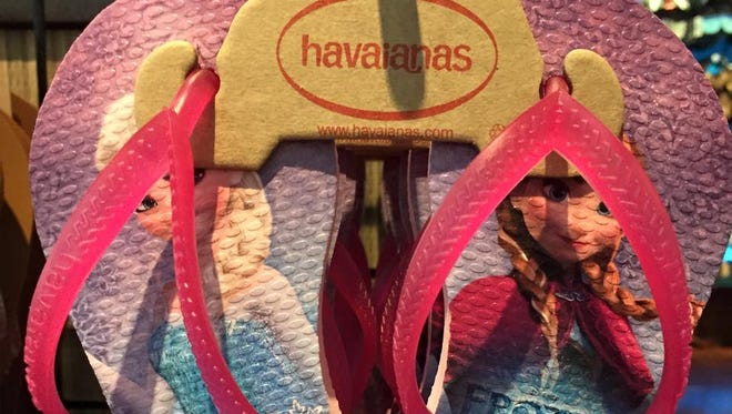 Flip Flop Shops in the Coastland Center Mall, Naples sells flip flops, sandals and shoes.