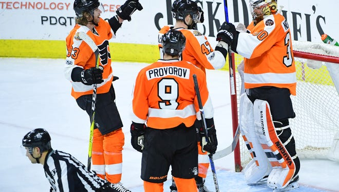 The Flyers' victory against the Toronto Maple Leafs last Thursday was their third straight heading into the All-Star break.