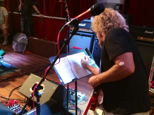 Sammy Hagar - note taking