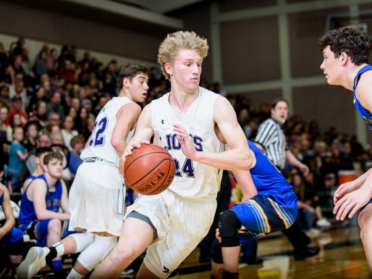 Redding Christian's Austin Larson averaged 23.3 points per game this season on his way to making the all-Northern Section Second Team.