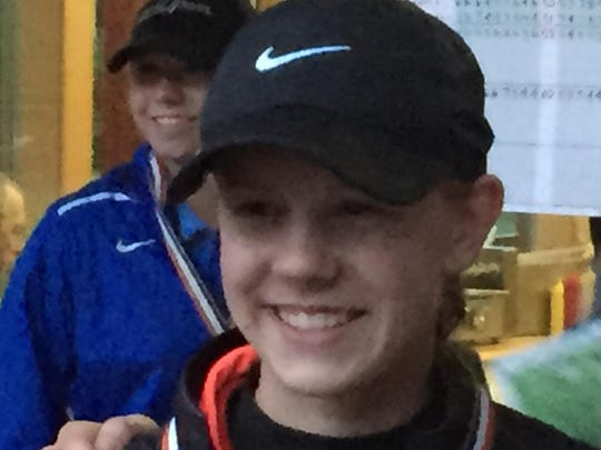 North Salem junior Jessica Braun (left) and Sprague senior Jordan Hagedorn (right)