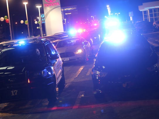 Several law enforcement departments lit up their light