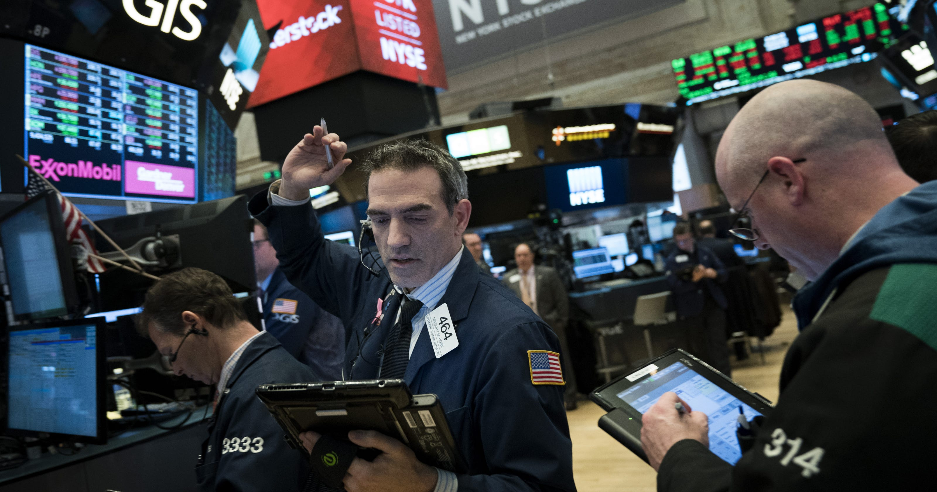 Dow's wild ride persists as stocks swing early but blue chip index finishes higher for a second ...