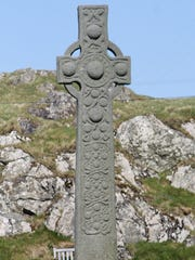 St. Martin's Cross, a Celtic cross dating back to the