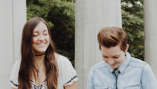 The Harmaleighs, from Nashville, TN, is composed of Haley Grant (guitar/vocals) and Kaylee Jasperson (bass/vocals).