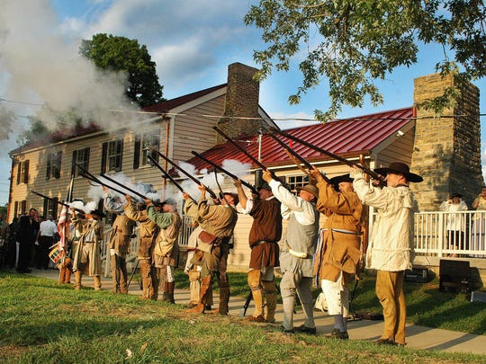 Since it opened five months ago on July 17, about 700 people have visited the Douglass-Clark House in Gallatin. Above, militia reenactors fire a volley at the Douglass-Clark House dedication on Monday, July 21, 2014 in Gallatin.