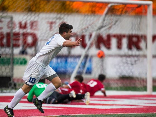 Holmdel's Anthony Arena puts in one of his five goals