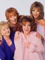 Four Hollywood legends (from left, Debbie Reynolds,