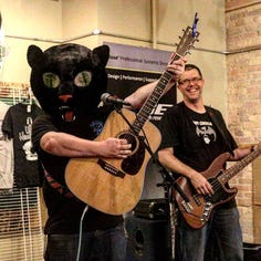 Walt Hamburger will break out the cat mascot head for fundraiser gig at Brickhouse