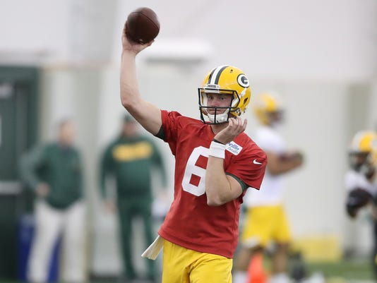 half off ca0d2 13d05 Quarterback Tim Boyle gives Packers a do-over for Taysom Hill