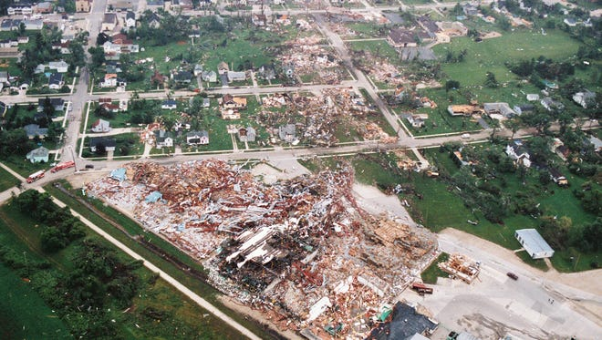 The July 18, 1996 Oakfield tornado left a path of devastation but killed no one.