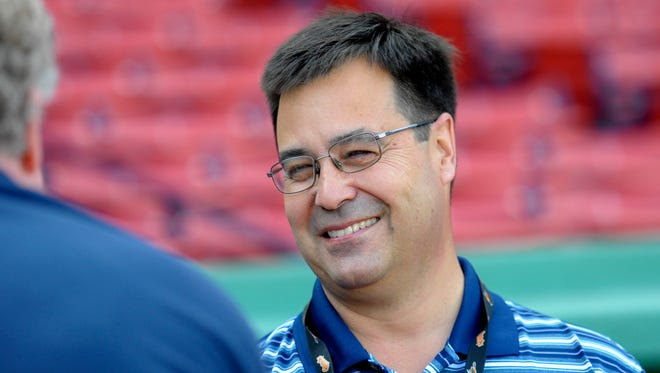 Baltimore Orioles executive vice president of baseball operations Dan Duquette prior to a game against the Boston Red Sox at Fenway Park.