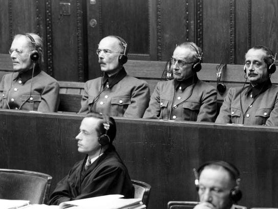 File - (AP) Nuremberg trial - Defendants of general