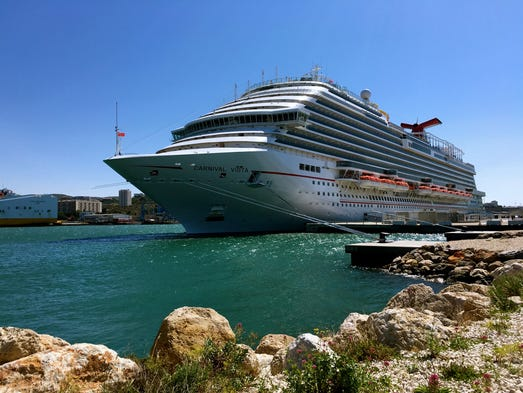 The 133,500-ton Carnival Vista carries a maximum of