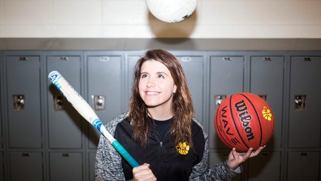 Crescent three-sport athlete Ashley Parnell says managing all three sports is a juggling act, one she prefers.