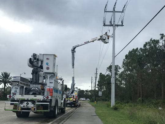 FPL Hurricane Irma restoration in Bonita Springs, Fla.,
