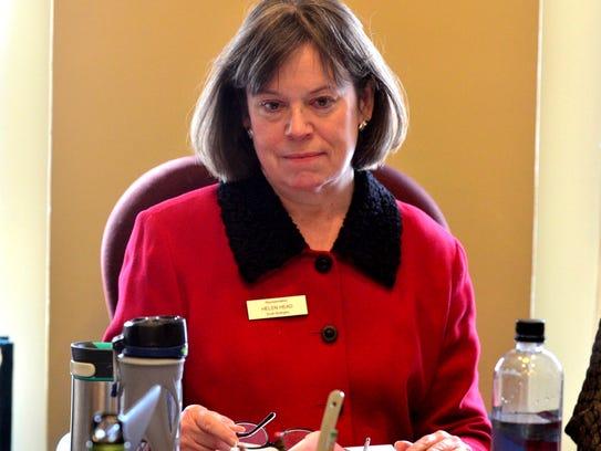 Rep. Helen Head, D-South Burlington, listens during
