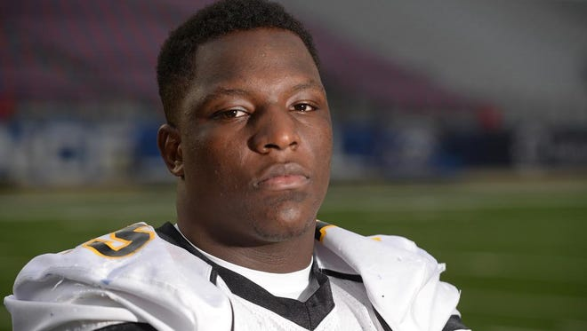 Shreveport Times 2014 All-Area defensive player of the year is Kendrick Jackson from Haynesville High School.