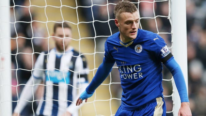 Leicester City's Jamie Vardy is the leading scorer on a club that has made a remarkable turnaround in the past 12 months, now sitting atop the English Premier League.